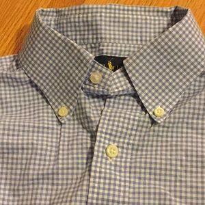 Ralph Lauren blue white medium long sleeves Men's